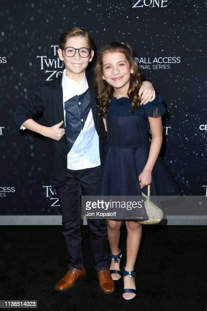 Jacob Tremblay and Erica Tremblay attend CBS All Access new series The Twilight Zone premiere at the Harmony Gold Preview House and Theater on March...