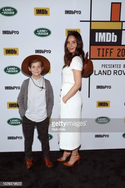 Jacob Tremblay and Olivia Munn of Predator attend The IMDb Studio presented By Land Rover At The 2018 Toronto International Film Festival at Bisha...