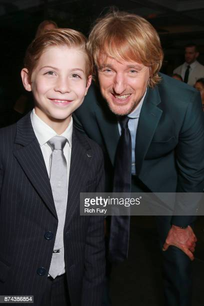 """Jacob Tremblay and Owen Wilson attend the after party for the premiere of Lionsgate's """"Wonder"""" on November 14, 2017 in Los Angeles, California."""
