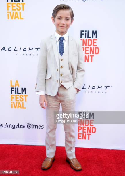 Jacob Tremblay arrives at the 2017 Los Angeles Film Festival Opening Night Premiere Of Focus Features' The Book Of Henry at Arclight Cinemas Culver...