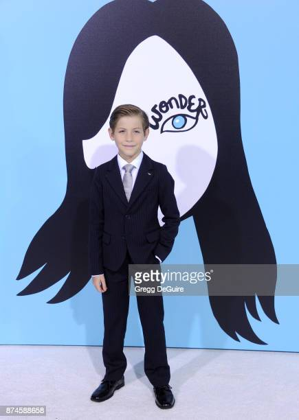 Jacob Tremblay arrives at the premiere of Lionsgate's 'Wonder' at Regency Village Theatre on November 14 2017 in Westwood California