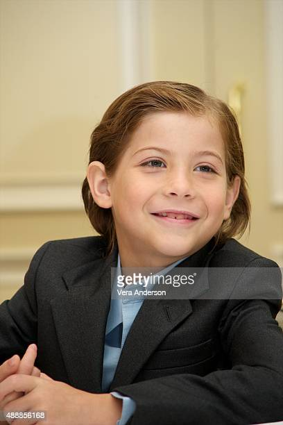 """Jacob Tremblay at the """"Room"""" Press Conference at the Fairmont Royal York on September 16, 2015 in Toronto, Ontario."""