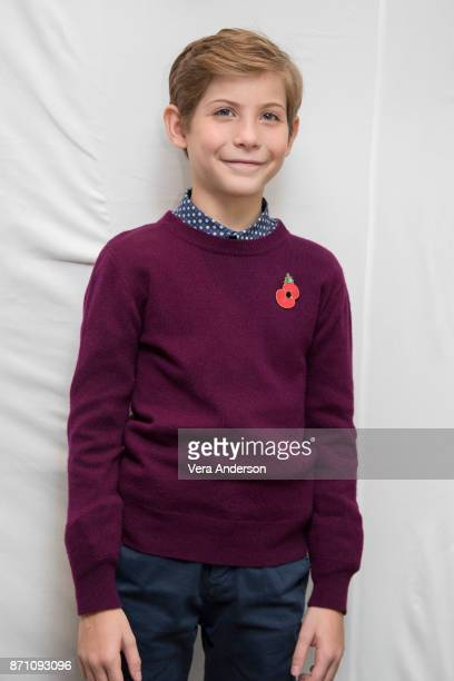 """Jacob Tremblay at the """"Wonder"""" Press Conference at the Langham Hotel on November 5, 2017 in London, England."""