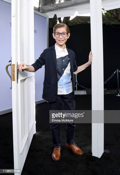 Jacob Tremblay attends CBS All Access new series The Twilight Zone premiere at the Harmony Gold Preview House and Theater on March 26 2019 in...
