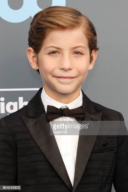 Jacob Tremblay attends the 23rd Annual Critics' Choice Awards at Barker Hangar on January 11 2018 in Santa Monica California
