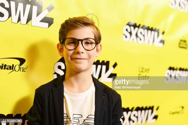 Jacob Tremblay attends the Good Boys Premiere 2019 SXSW Conference and Festivals at Paramount Theatre on March 11 2019 in Austin Texas