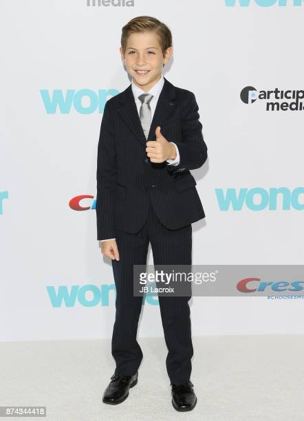 Jacob Tremblay attends the premiere of Lionsgate's 'Wonder' on November 14, 2017 in Los Angeles, California.