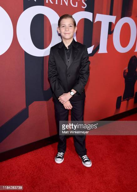 """Jacob Tremblay attends the premiere of Warner Bros Pictures' """"Doctor Sleep"""" at Westwood Regency Theater on October 29, 2019 in Los Angeles,..."""