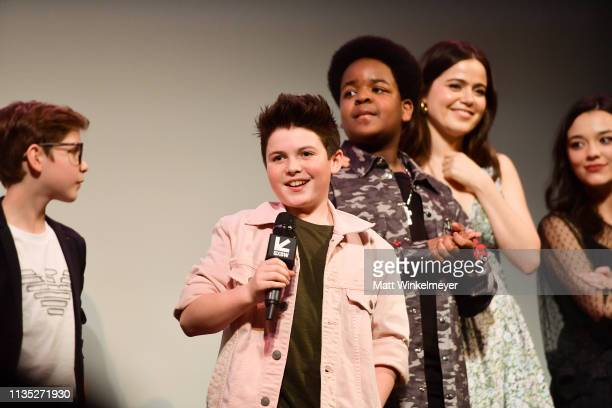 Jacob Tremblay Brady Noon Keith L Williams Molly Gordon and Midori Francis attend the Good Boys Premiere 2019 SXSW Conference and Festivals at...