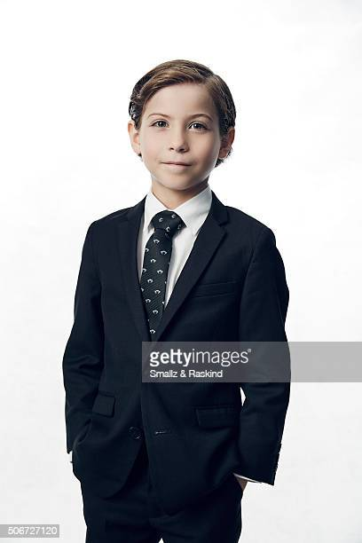 Jacob Tremblay poses for a portrait during the 21st Annual Critics' Choice Awards at Barker Hangar on January 17 2016 in Santa Monica California