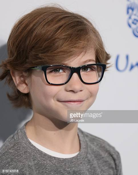 Jacob Tremblay walks the WE Carpet at WE Day California 2016 at The Forum on April 7 2016 in Inglewood California