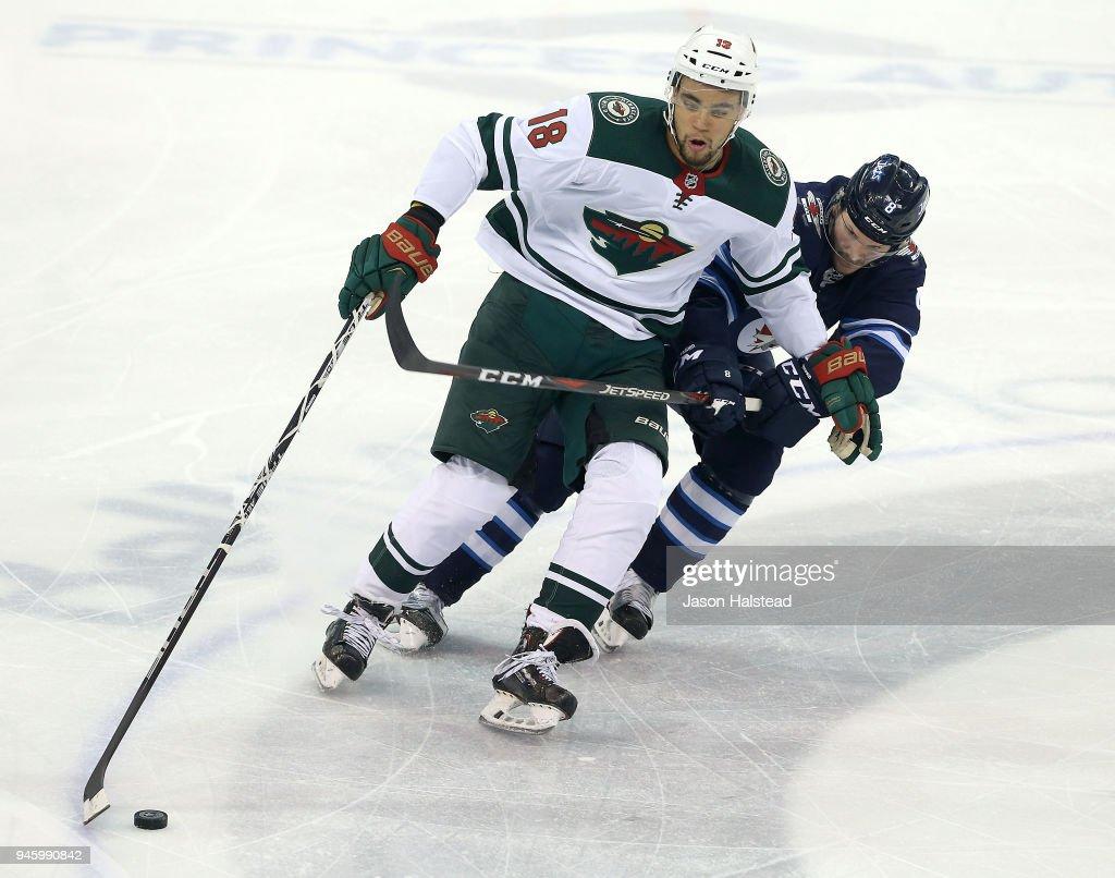 Minnesota Wild v Winnipeg Jets - Game Two : News Photo