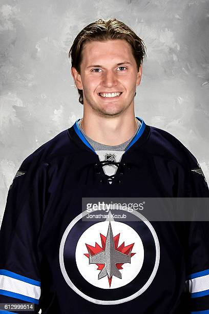 Jacob Trouba of the Winnipeg Jets poses for his official headshot for the 20162017 season on September 22 2016 at the MTS Centre in Winnipeg Manitoba...