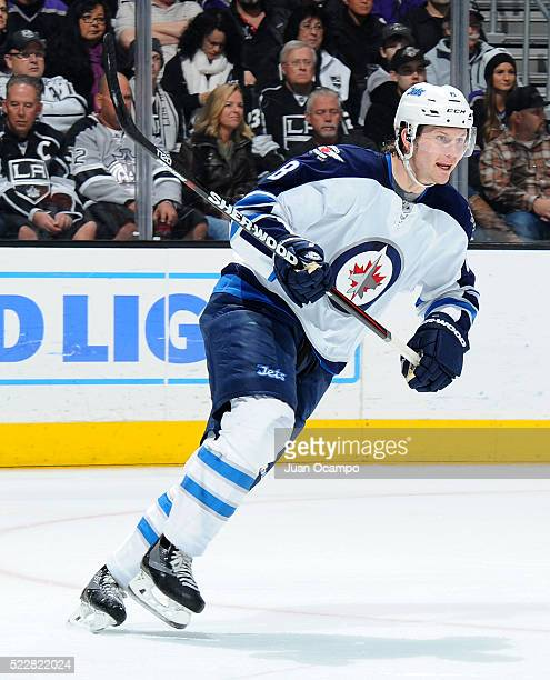 Jacob Trouba of the Winnipeg Jets skates during the game against the Los Angeles Kings on April 9 2016 at STAPLES Center in Los Angeles California