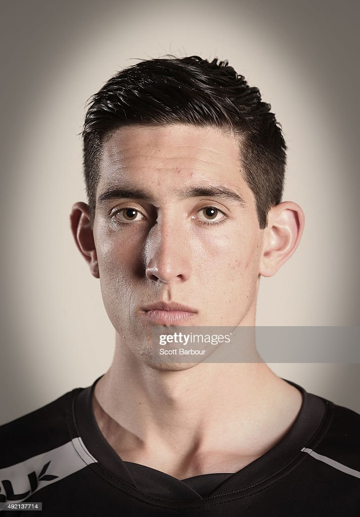 Jacob Weitering poses for a portrait during the 2015 AFL Draft Combine at Etihad Stadium on October 10, 2015 in Melbourne, Australia.