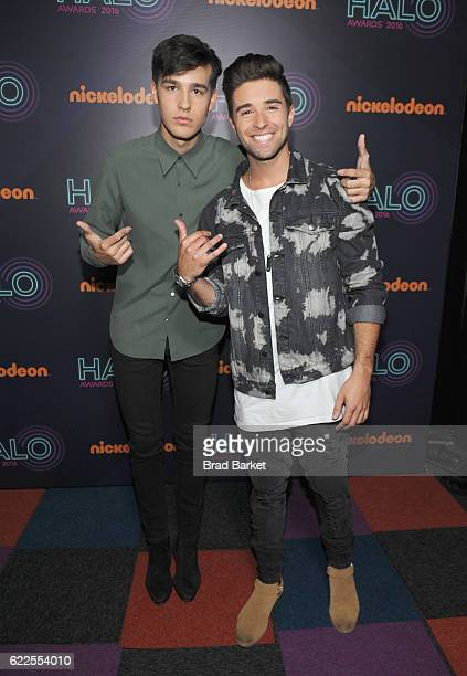 Jacob Whitesides and Jake Miller attend the 2016 Nickelodeon HALO awards at Basketball City Pier 36 South Street on November 11 2016 in New York City