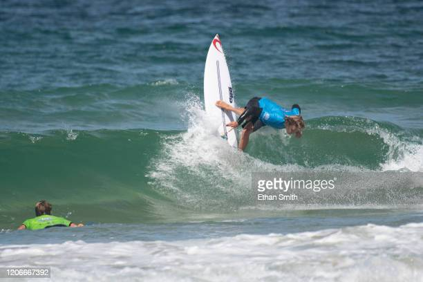 Jacob Willcox of Australia surfing in Round 3 of the 2020 Sydney Surf Pro at Manly Beach on 11 March 2020 in Sydney Australia today