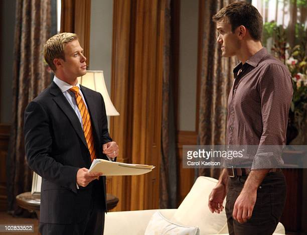 CHILDREN Jacob Young and Adam Mayfield in a scene that airs the week of July 19 2010 on Walt Disney Television via Getty Images Daytime's All My...