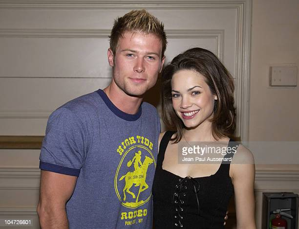 Jacob Young Rebecca Herbst during ABC's General Hospital Fan Day at Sportsman's Lodge in Studio City California United States