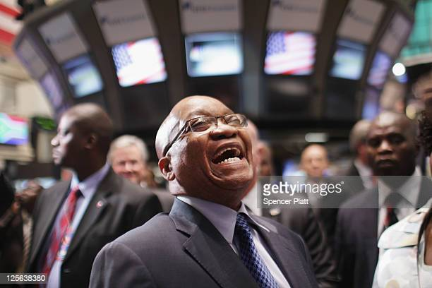 Jacob Zuma South Africa's president visits the New York Stock Exchange on September 19 2011 in New York City Amid hopes that Greece may avoid a...