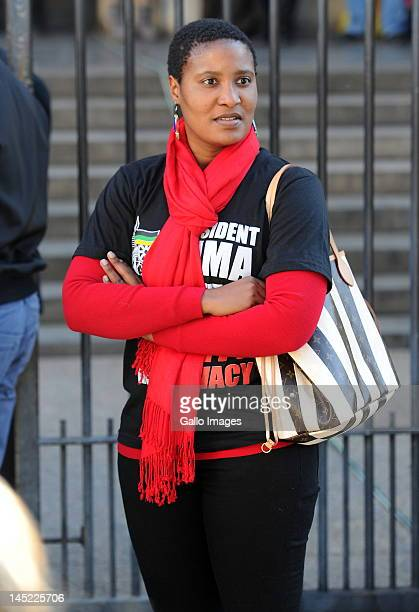 Jacob Zuma's daughter Duduzile Zuma outside the High Court on May 24 2012 in Johannesburg South Africa President Zuma's party the African National...