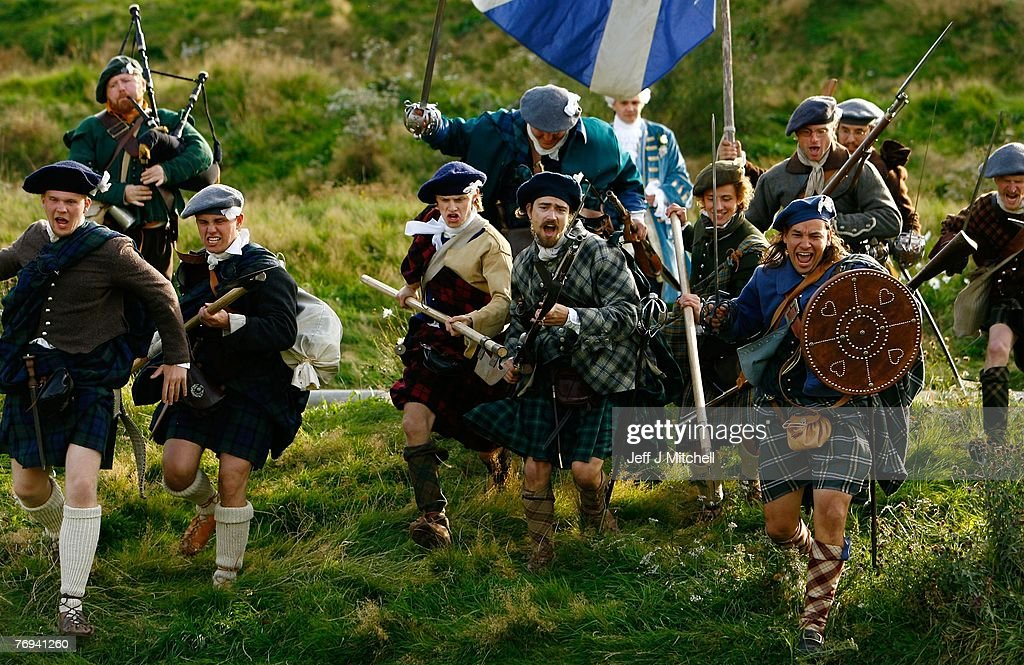 Jacobean Re-enactment Takes Place Outside Holyrood : News Photo