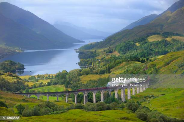 Jacobite Steam Train, crossing the Glenfinnan Viaduct