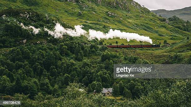 Jacobite Steam Train, Glenfinnan, Highland, Scotland