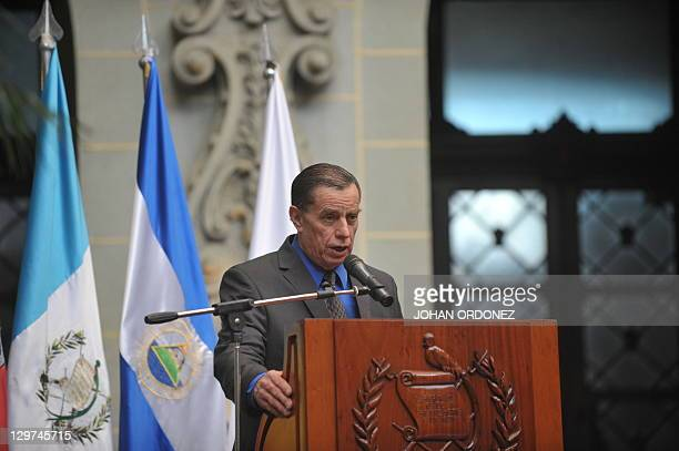 Jacobo Arbenz Vilanova son of former president Jacobo Arbenz speaks on October 20 at the Culture Palace in Guatemala City The Guatemalan state...