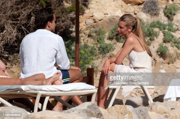 Jacobo Duran and Daniela Figo are seen on July 16 2019 in Ibiza Spain