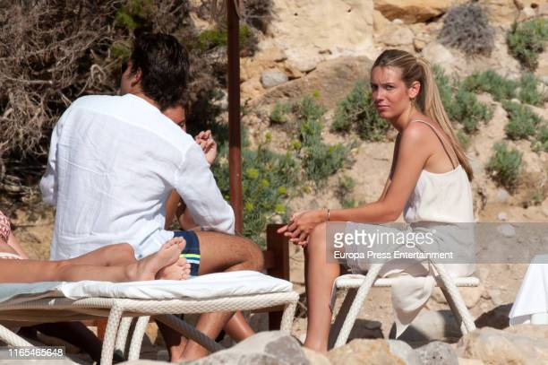 Jacobo Duran and Daniela Figo are seen on July 16 2019 in Ibiza Spain