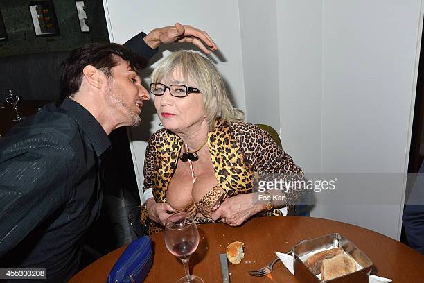 Jacobo Espina and Susi Wyss attend the 'Moustache Party' At the Tres Honore Club on September 11 2014 in Paris France