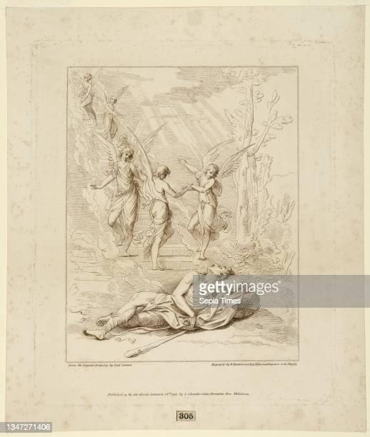Jacob's Vision, Francesco Bartolozzi, Italian, active England, 1727–1815, Lodovico Carracci, Italian, 1555 - 1619, John Chamberlaine, English, 1745 -...