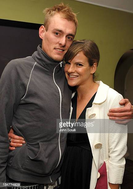 AJ Jacobson and Kate Sumner during Gran Centenario Toasts Joey Tierney's Fall 2007 Collection at Private Residence in Beverly Hills California United...