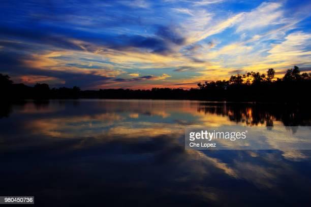 jacobson park at sunset, lexington, kentucky, usa - lexington kentucky stock pictures, royalty-free photos & images