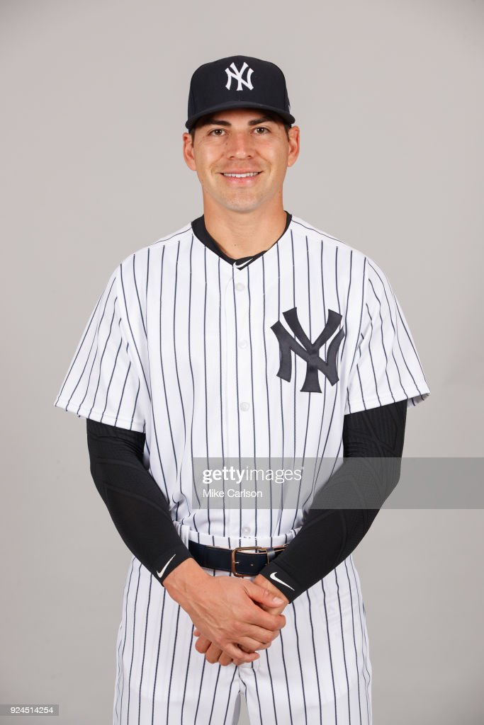Jacoby Ellsbury #22 of the New York Yankees poses during Photo Day on Wednesday, February 21, 2018 at George M. Steinbrenner Field in Tampa, Florida.
