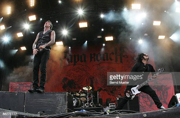 Jacoby Shaddix and Tobin Esperance of Papa Roach perform on stage on day 2 of Rock Im Park at Frankenstadion on June 6, 2009 in Nuremberg, Germany.