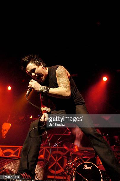 Jacoby Shaddix of Papa Roach during 2004 KROQ Almost Acoustic Christmas Night 2 Show at Universal Amphitheatre in Universal City California United...