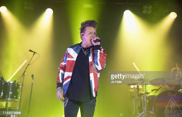 Jacoby Shaddix of Papa Roach perform on stage at O2 Forum Kentish Town on April 17 2019 in London England