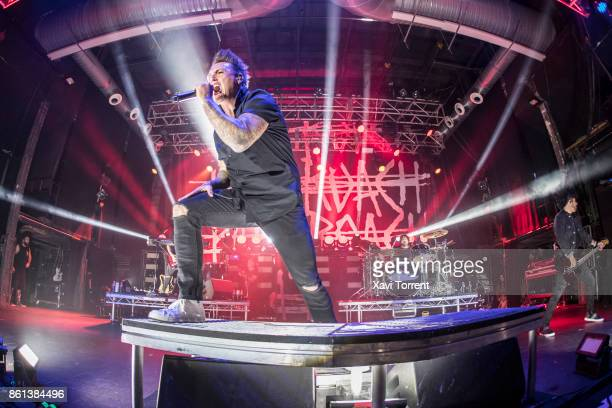 Jacoby Shaddix of Papa Roach performs in concert at Razzmatazz on October 14 2017 in Barcelona Spain