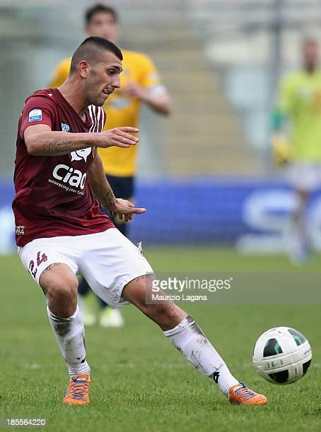 Jacopo Dall'Oglio of Reggina during the Serie B match between Modena FC and Reggina Calcio at Alberto Braglia Stadium on October 19 2013 in Modena...