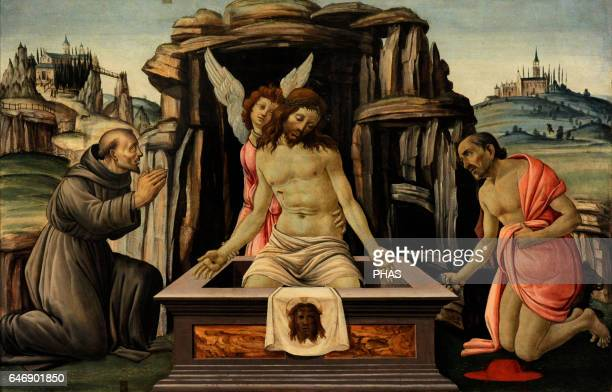 Jacopo del Sellaio Italian painter Florentine school The Lamentation over the Dead Christ with Saints Francis and Jerome Tempera on panel The State...