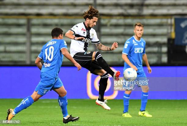 Jacopo Dezi of Parma Calcio in action during the Serie B match between Parma Calcio and Empoli FC on September 19 2017 in Parma Italy