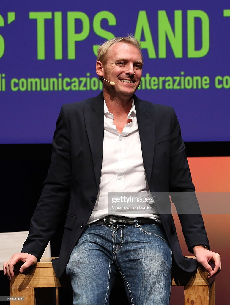 Jacopo Morini attends the IF! Italians Festival at Franco Parenti Theater on October 3, 2014 in Milan, Italy.