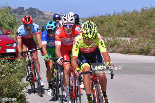 Jacopo Mosca of Italy and Team Wilier Triestina-Selle Italia / Marco Frapporti of Italy and Team Androni Giocattoli-Sidermec / Enrico Barbin of Italy...