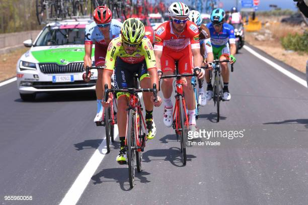 Jacopo Mosca of Italy and Team Wilier Triestina-Selle Italia / Maxim Belkov of Rusia and Team Katusha-Alpecin / Marco Frapporti of Italy and Team...