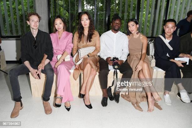 Jacopo Moschin Aimee Song wearing Max Mara Shin Park wearing Max Mara Emmanuel Kinemo Molly Chiang wearing Max Mara and a guest attend Max Mara...
