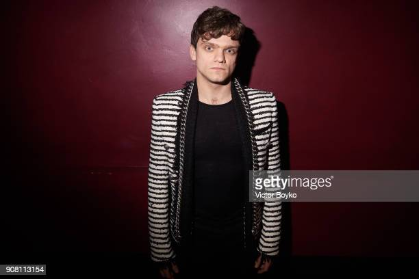 Jacopo Olmi attends the Balmain Homme Menswear Fall/Winter 20182019 aftershow as part of Paris Fashion Week on January 20 2018 in Paris France