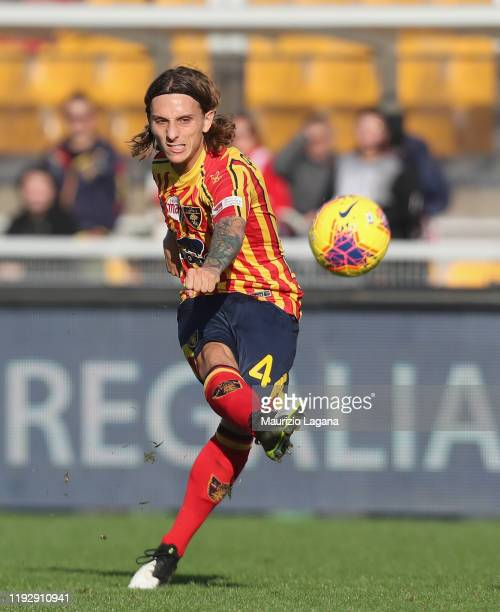 Jacopo Petriccione of Lecce during the Serie A match between US Lecce and Genoa CFC at Stadio Via del Mare on December 8, 2019 in Lecce, Italy.