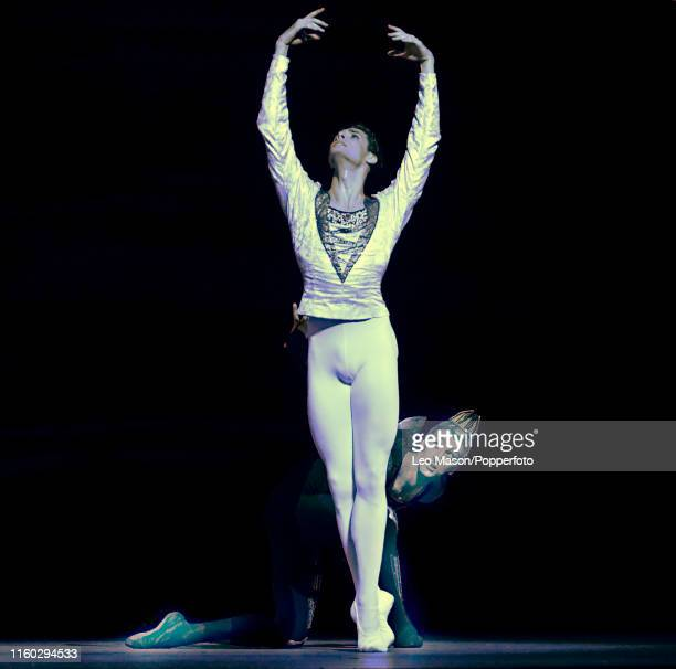 Jacopo Tissi as Prince Siegfried in The Bolshoi Ballet's production of Yuri Grigorovich's adaptation of Marius Petipa and Lev Ivanov's Swan Lake at...